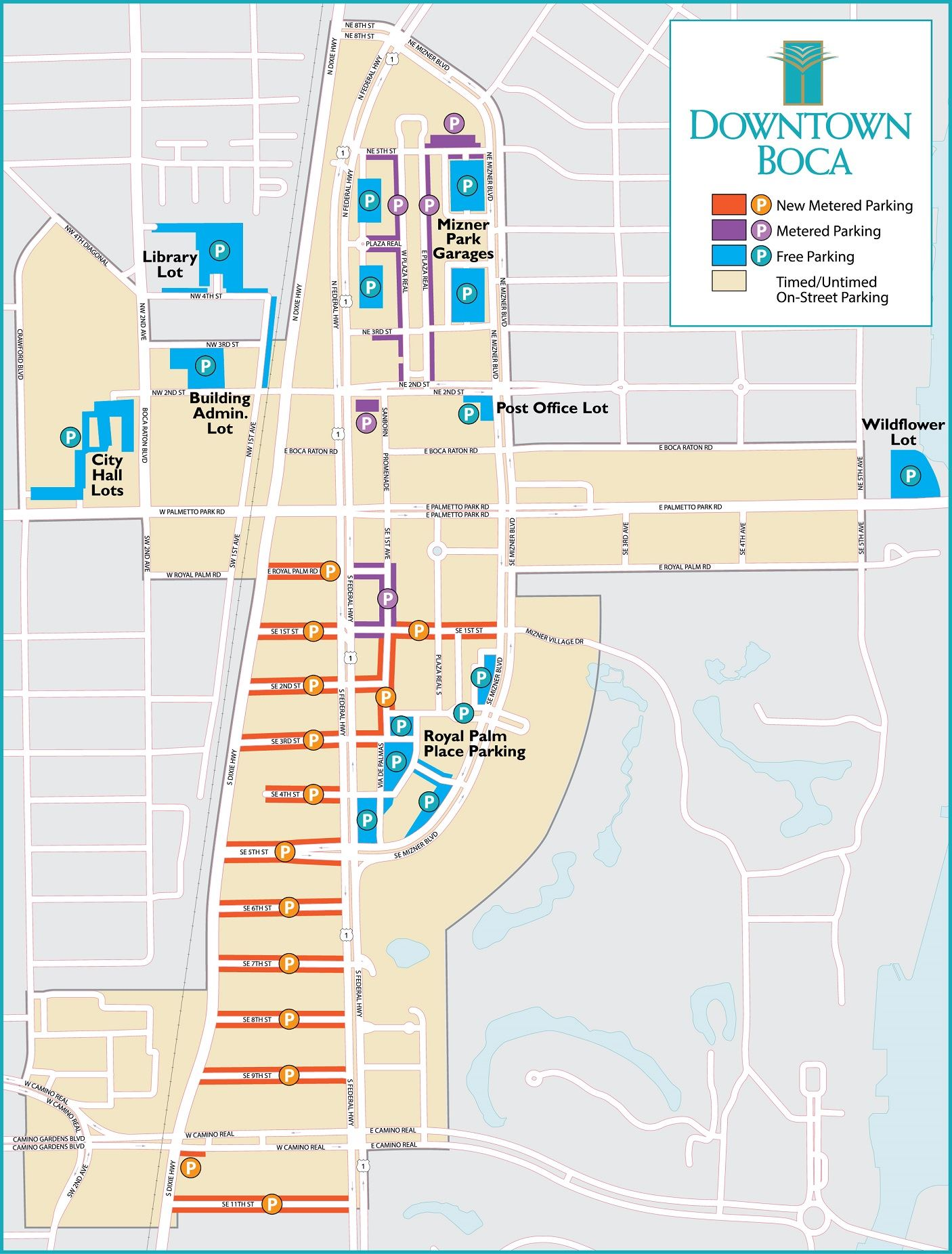 Downtown Boca Parking Map 7-29-20