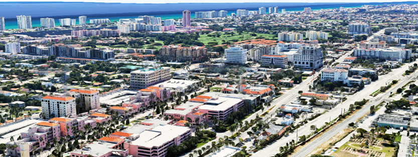 Aerial View of Downtown Boca