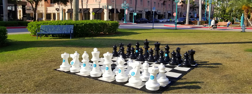 Giant Chess Set in MiznerPark